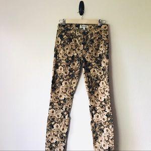 m a d e w e l l ♡ Floral Corduroy Skinny Pants 24
